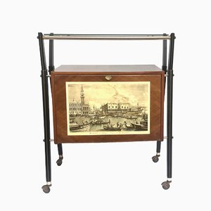 Vintage Italian Bar Trolley by Cesare Lacca, 1950s