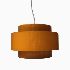 Lámpara colgante amarilla de Jo Hammerborg para Fog & Mørup, años 60
