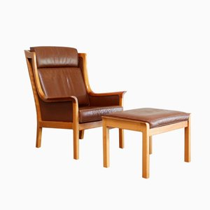 Vintage Antimott Lounge Chair & Ottoman by Rudolf Glatzel for Wilhelm Knoll