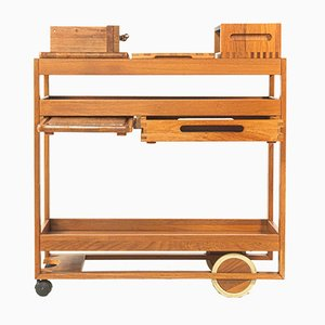Danish Rechaud Trolley by Jens Quistgaard For Richard Nissen, 1970s