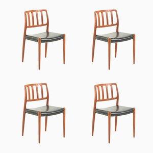 Chaises de Salon No. 83 en Teck par Niels Otto Møller, 1960s, Set de 4