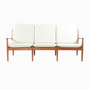 3-Seater Teak Sofa by Svend Aage Eriksen for Glostrup, 1962