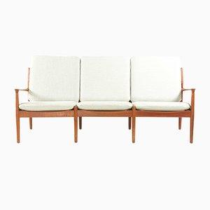 3-Sitzer Teak Sofa von Grete Jalk für Glostrup