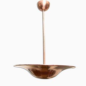 Lámpara colgante Bauhaus estilo UFO de latón, años 30