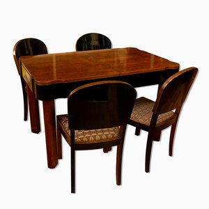 German Art Deco Oak Dining Set, 1930s