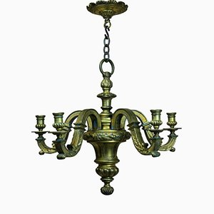 English Gilt Bronze Chandelier