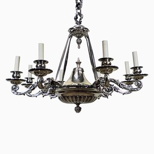 Antique English 6-Arm Chandelier