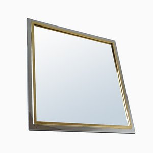 Gold-Plated Mirror from Belgo Chrom / Dewulf Selection, 1970s