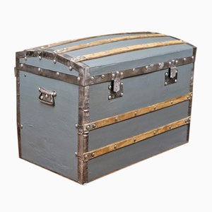 Vintage Canvas & Wood Trunk