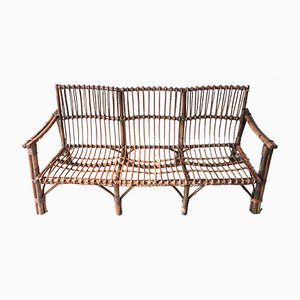 Bench in Bamboo and Cane, 1950s