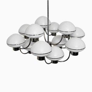 Lámpara de araña vintage de 12 luces de Gaetano Sciolari