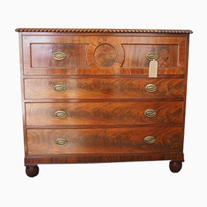 18th-Century George III Mahogany Secretaire