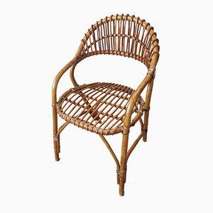 Chaise Mid-Century en Bambou