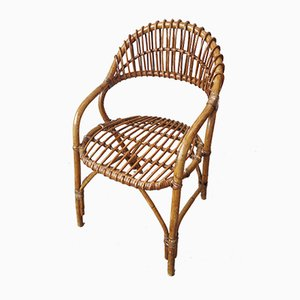 Mid-Century Stuhl aus Bambus