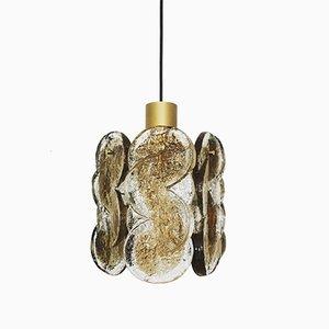 Lámpara colgante de cristal de Murano ahumado de J.T. Kalmar para Franken KG, años 60