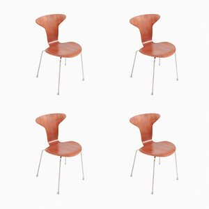 Mid-Century Model 3105 Mosquito Chairs by Arne Jacobsen for Fritz Hansen, Set of 4