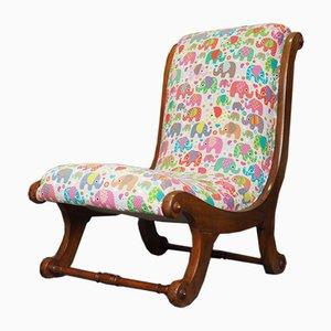 Victorian Mahogany Sleigh Chair, 1880s