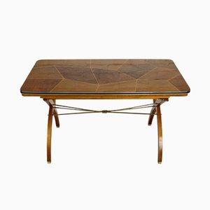 Tavolo da pranzo allungabile in legno di noce, Francia, anni '50