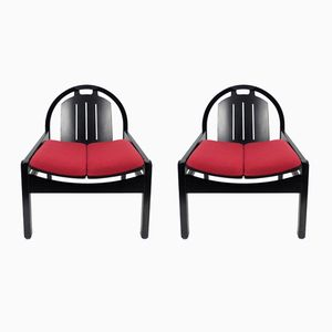 French Lounge Chairs by Baumann, 1980s, Set of 2