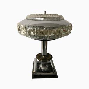 Mid-Century Italian Crystal Table Lamp, 1950s
