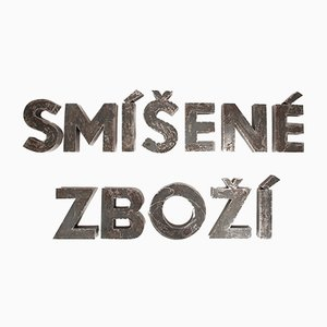 Panneau de Magasin Tchèque Vintage