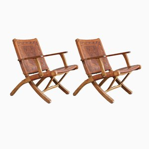 Mid-Century Folding Chairs by Angel I. Pazmino for Muebles de Estilo, Set of 2