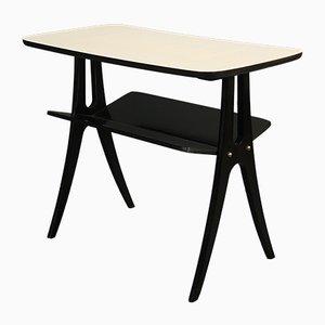 Table Basse Noire et Blanche, Allemagne, 1950s