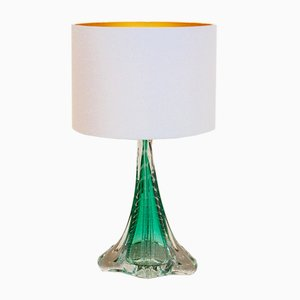Handmade Translucent Glass Table Lamp from Boussu, 1960s