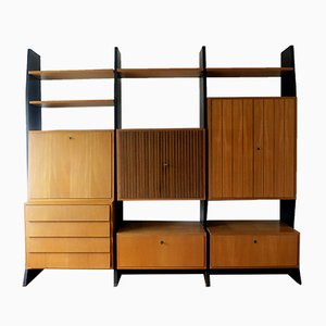 Modular Idee Möbel Program Wall Shelf & Secretary by Erich Stratmann for Oldenburger Möbelwerkstätte, 1954