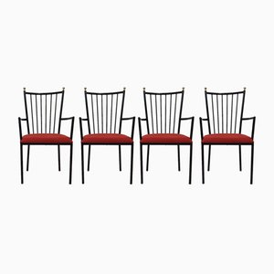 Mid-Century Armchairs by Colette Gueden, Set of 4