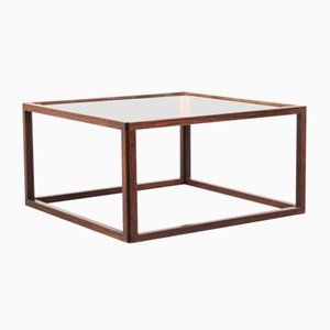 Vintage Danish Rosewood & Glass Coffee Table