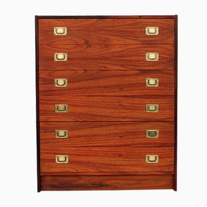 Danish Rosewood Chest of Drawers by Henning Korch for Westergaard Møbelfabrik, 1950s