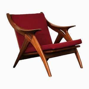 Dutch The Knot Teak Lounge Chair from De Ster Gelderland, 1960s