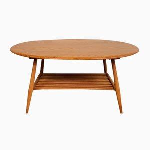 Table Basse Ronde Vintage par Lucian Ercolani pour Ercol