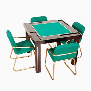 Casino Table with 4 Chairs, 1980s