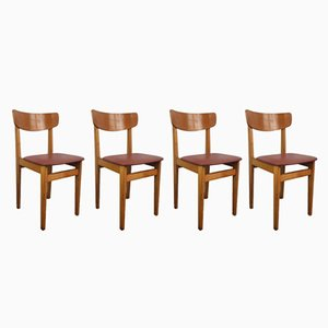 Mid-Century Café Chairs, 1960s, Set of 4