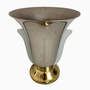 Lampe Vase Art Déco en Forme de Tulipe en Verre, France