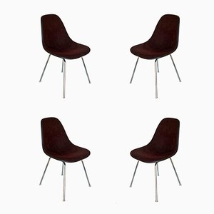 Fiberglass Chairs by Charles & Ray Eames for Herman Miller, 1960s, Set of 4