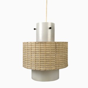 Space Age Opaline Pendant Lamp, 1960s