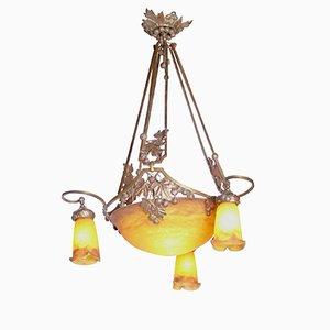 Lámpara de techo modernista de Muller Frères, años 10