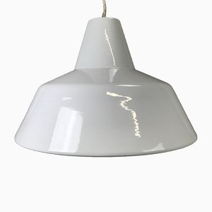 Industrial Enamel Pendant Lamp from Louis Poulsen, 1960s