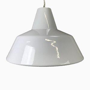 Lámpara colgante industrial esmaltada de Louis Poulsen, años 60