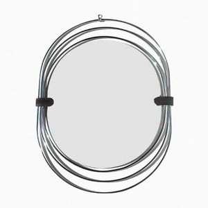 Mid-Century Space Age Steel Mirror by Verner Panton
