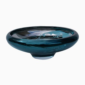DECO Large Teal Bowl with Splashes by Artis Nimanis for an&angel