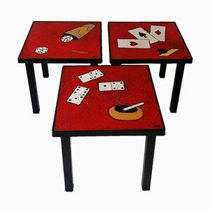 Tavolini di Vera Szekely, Francia, anni '50, set di 3
