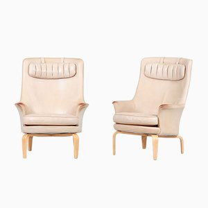 Swedish Pilot Lounge Chairs by Arne Norell, 1970s, Set of 2