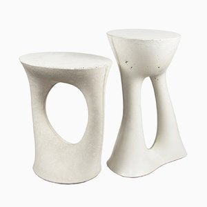 Tall & Short Grey Kreten Side Tables by Isaac Friedman-Heiman for Souda, Set of 2