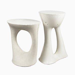 Tavolini Kreten alto e basso grigi di Isaac Friedman-Heiman per Souda, set di 2