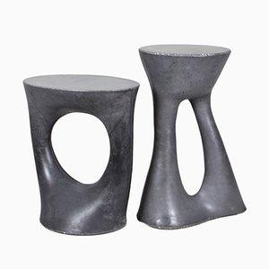 Tavolini Kreten alto e basso color carbone di Isaac Friedman-Heiman per Souda, set di 2
