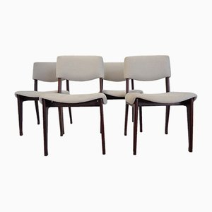 Mid-Century Italian Wooden Chairs by Mim, Set of 4
